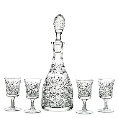"photo Wine Set ""Lordly"" 9361 from glassworks Neman"
