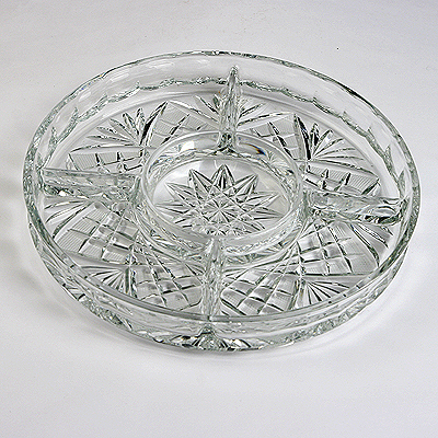 photo Compartment dish from glassworks Neman