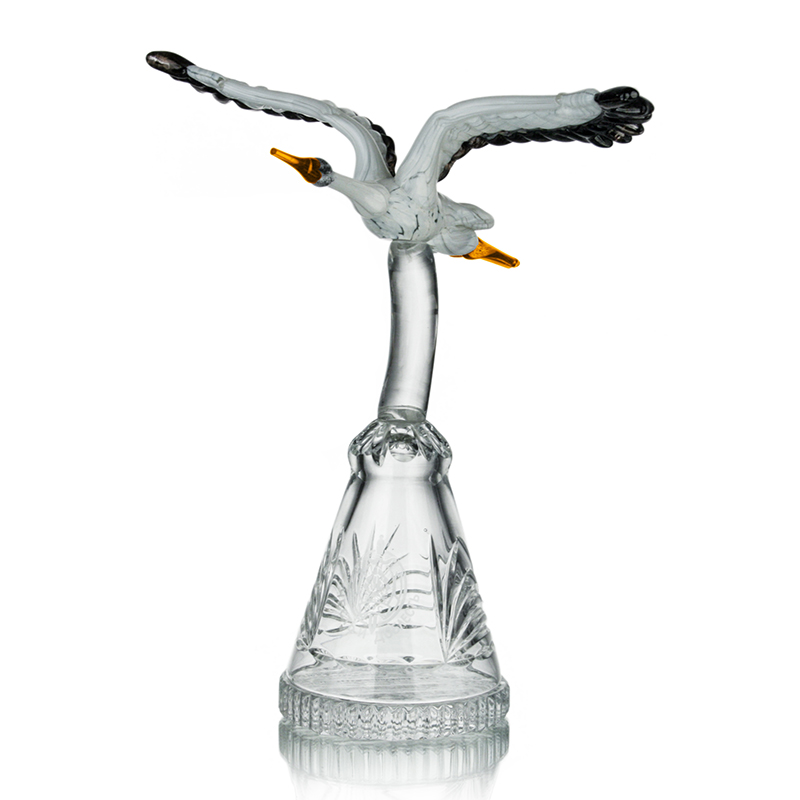 "photo Prize ""Flying stork on a stand"" 9028 from glassworks Neman"