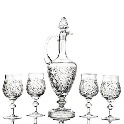 "photo Wine Set ""Cameo"" 10381 from glassworks Neman"