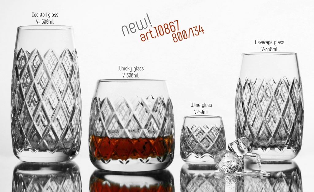 New collection of glasses art. 10867 glassworks Neman